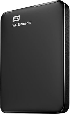 Внешний жесткий диск (HDD) Western Digital Original USB 3.0 500 Gb WDBUZG 5000 ABK-WESN Elements Portable 2.5`` черный