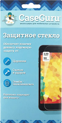 Защитное стекло CaseGuru для Samsung Galaxy A8 2018 Glue Full Screen Black