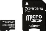 Карта памяти Transcend micro SDHC 32 Gb TS 32 GUSDHC 10 + adapter